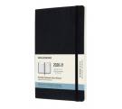 Moleskine 18 months monthly large black soft cover 2020-21