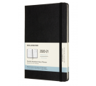 Moleskine 18 month monthly notebook large black hard cover 2020-21
