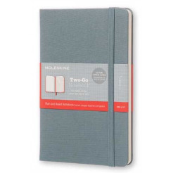 Moleskine Two-Go Notebook Saxe Blue